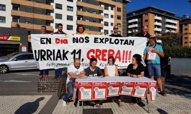 El comité de empresa de supermercados DIA de Gipuzkoa convoca una huelga para el 11 de octubre por las condiciones de trabajo que soportan