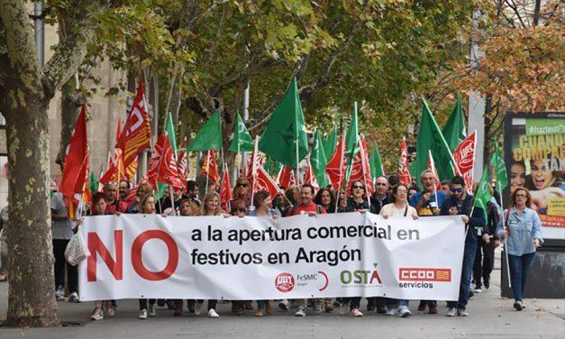No se ha pensado en los trabajadores del comercio con la apertura de tres festivos más en Aragón