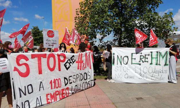 Las trabajadoras de H&M en La Rioja paran y protestan contra el ERE y el empleo low cost